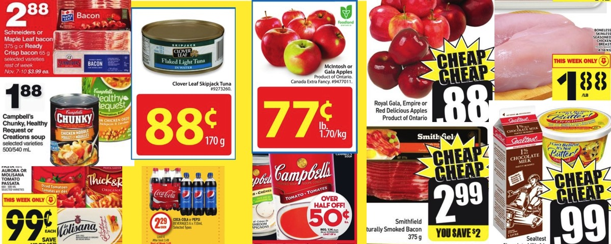 Grocery Deals For November 4 2016 All The Flyers You Need In One